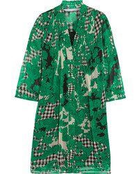 Diane von Furstenberg Layla Printed Silk Chiffon Mini Dress