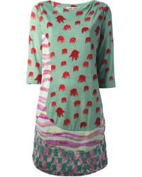Tsumori Chisato Mixed Print Casual Dress