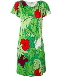 Moschino Boutique Botanical Print Dress
