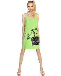 Moschino Cheap & Chic Dino Printed Techno Crepe Dress