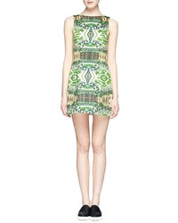Nobrand Carrie Garden Print Bateau Neck Dress