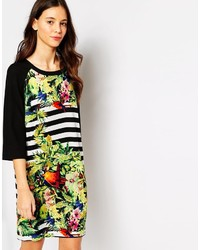 Vero Moda One Fashion By Shift Dress In Striped Tropical Print