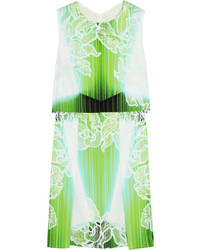 Peter Pilotto Printed Stretch Silk Mini Dress