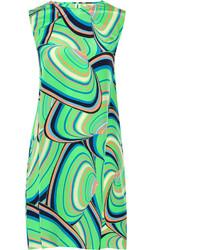 Issa Printed Silk Crepe De Chine Mini Dress