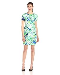 Vince Camuto Short Sleeve Printed Shift Dress