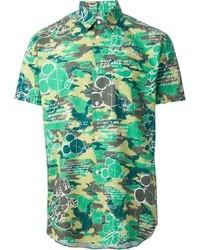 Comme des garcons comme des garons shirt printed shirt medium 23501