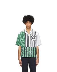 Neil Barrett Green Logo Short Sleeve Shirt