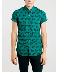 Topman short sleeve moth print shirt medium 112473