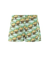 Emma Cook Hawaiian Swan Print Shorts