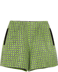 Carven Printed Cotton Blend Tweed Shorts