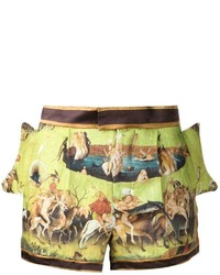 Undercover side flap printed shorts medium 230645