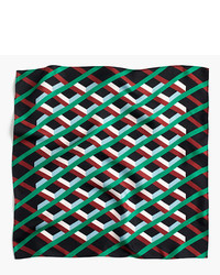 J.Crew Italian Silk Scarf In Ratti Graphic Diamond Print