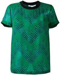 Diane von Furstenberg Chevron Print T Shirt