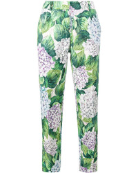 Dolce & Gabbana Hydrangea Print Tapered Trousers