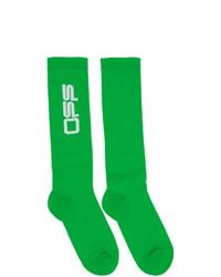 Off-White Green Wavy Logo Socks