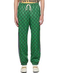 Gucci Green Gg Web Track Pants