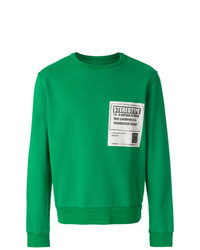 Green Print Sweatshirt