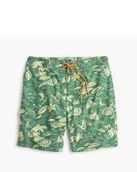 J.Crew 9 Stretch Board Short In Island Print