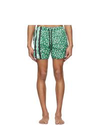 Neil Barrett Green Artist Dots Swim Shorts