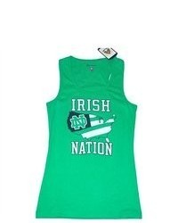 Champion Notre Dame Fighting Irish Green Glitter Tank Top T Shirt