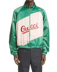 Gucci Ed Satin Track Jacket