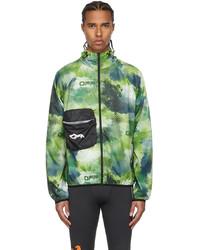 Off-White Green Active Zip Up Running Jacket