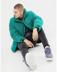ASOS DESIGN Oversized Puffer Jacket In Green