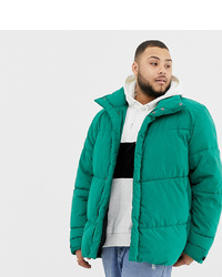 ASOS DESIGN Plus Oversized Puffer Jacket In Green