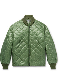 Monitaly Skyliner Quilted Nylon Ripstop Bomber Jacket