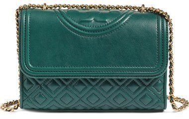 8e5e8c75cb5 ... Tory Burch Small Fleming Quilted Leather Shoulder Bag Green ...