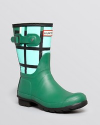Hunter Rain Boots Original Short Tartan