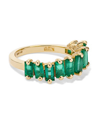 Suzanne Kalan 18 Karat Gold Emerald Ring
