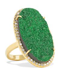 Kimberly Mcdonald 18 Karat Gold Uvarovite Garnet And Diamond Ring