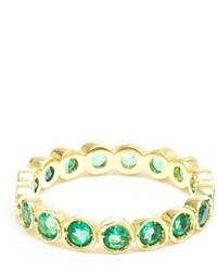 Jagga 18kt Gold Dots Emerald Midi Ring