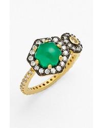 Freida Rothman Metropolitan Stone Two Tone Ring