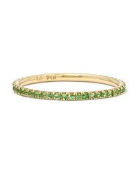 Ileana Makri Thread 18 Karat Gold Tsavorite Ring