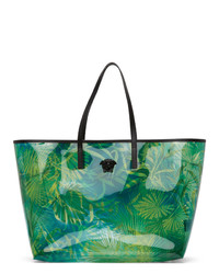 Versace Green Pvc Jungle Tote