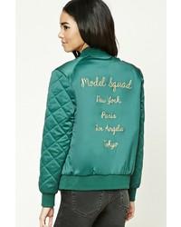 ea9184e07 Green Satin Bomber Jackets for Women | Women's Fashion | Lookastic.com