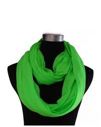 HDE Infinity Loop Scarf Soft Sheer Neck Wrap Green