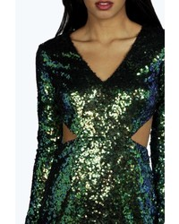28ee9ec8 Boohoo Boutique Ava Metallic Sequin Bodycon Dress, $62 | BooHoo ...