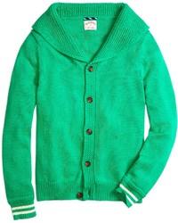 Green Shawl Cardigan