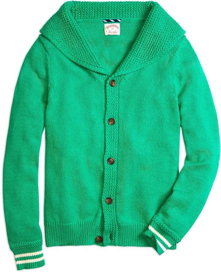 aae63c45aa3 ... Green Shawl Cardigans Brooks Brothers Shawl Collar Button Front Cardigan
