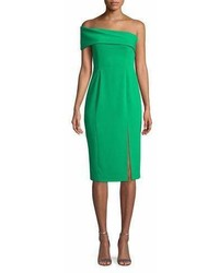 Jay Godfrey Surrey One Shoulder Crepe Dress