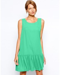 Love Drop Waist Shift Dress With Peplum Hem