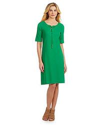 Joan Vass Piqu Shift Dress