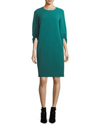 Lafayette 148 New York Tory 34 Sleeve Finesse Crepe Shift Dress