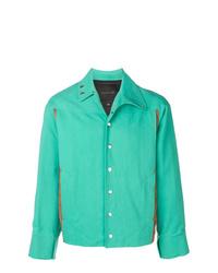 Mackintosh 0004 Turquoise Cotton Blend 0004 Two Tone Jacket