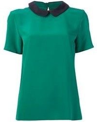 Green short sleeve blouse original 1290741