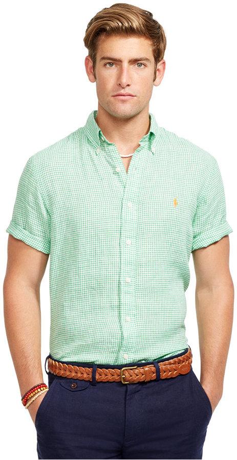 b34a26c34c6 ... Polo Ralph Lauren Short Sleeved Checked Linen Shirt ...