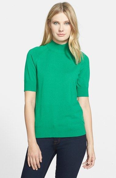 Classiques Entier Short Sleeve Mock Neck Pullover Where To Buy